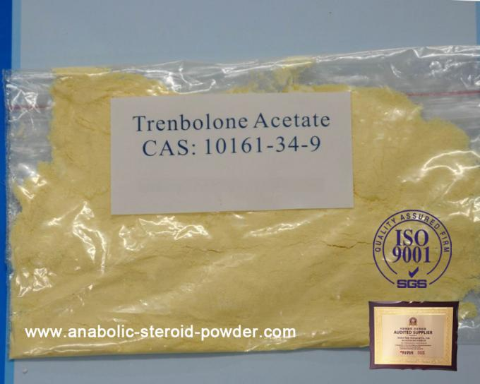 Oral Anabolic Steroids Trenbolone Steroids Trenbolone Acetate / TBA Yellow Powder
