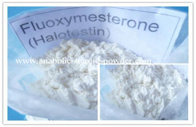 White Natural Anabolic Raw Steroid Powders Fluoxymesterone CAS 76-43-7
